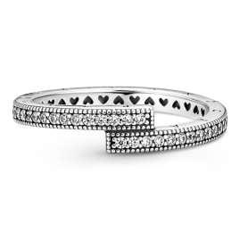 Pandora 199491C01 Damenring Silber Funkelnder Überlappender Ring