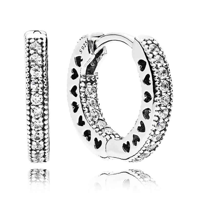 Pandora 296317CZ Earrings Eternal Hearts 5700302593334