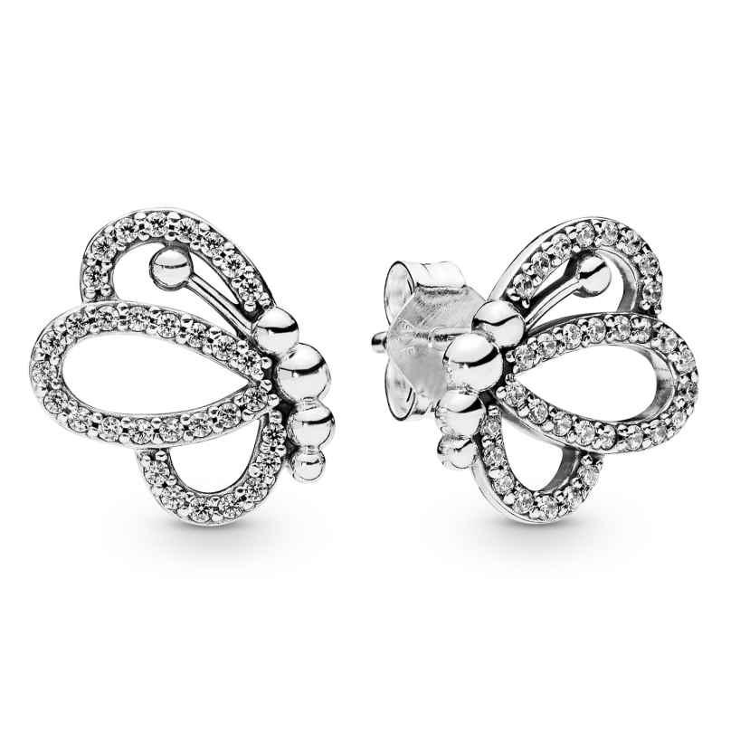 Pandora 297912CZ Damen-Ohrringe Butterfly Outlines 5700302764673