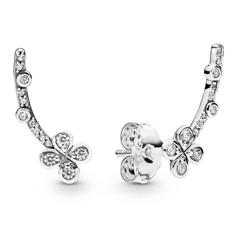 Pandora 297936CZ Damenohrringe Draped Four-Petal Flowers 5700302766806