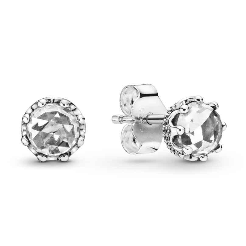Pandora 298311CZ Damen-Ohrstecker Clear Sparkling Crown 5700302817560