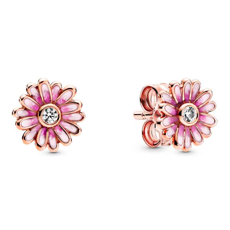 Pandora 288773C01 Rose Damen-Ohrstecker Pinke Gänseblümchen Ohrringe 5700302863680