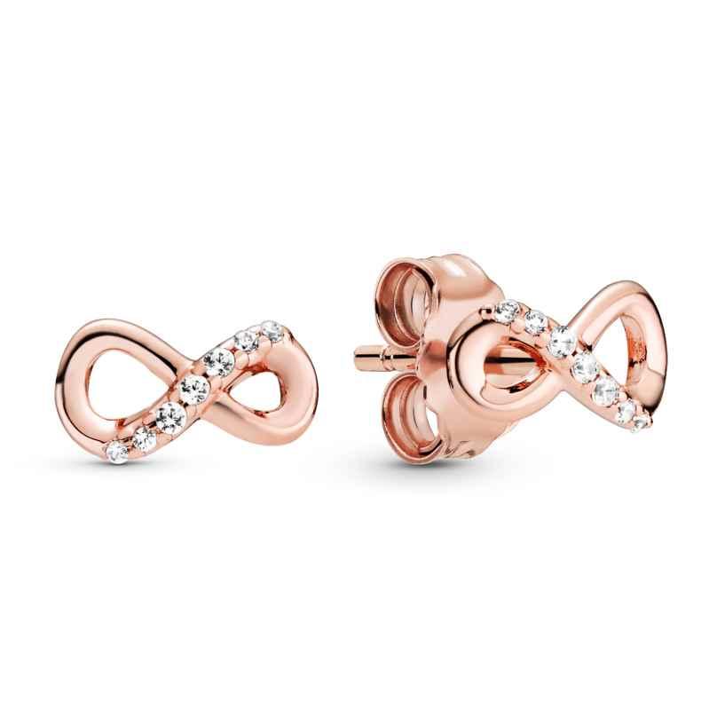 Pandora 288820C01 Rose Damen-Ohrringe Ohrstecker Funkelnde Unendlichkeit 5700302869132