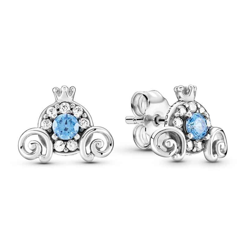 Pandora 299193C01 Ladies' Stud Earrings Cinderella Pumpkin Coach Silver 5700302899894