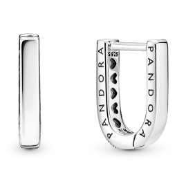 Pandora 299488C01 Damen-Ohrringe Creolen Silber U-Form