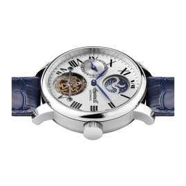 Ingersoll I07401 Automatik Herrenuhr The Riff Multifunktion blau/silberfarben