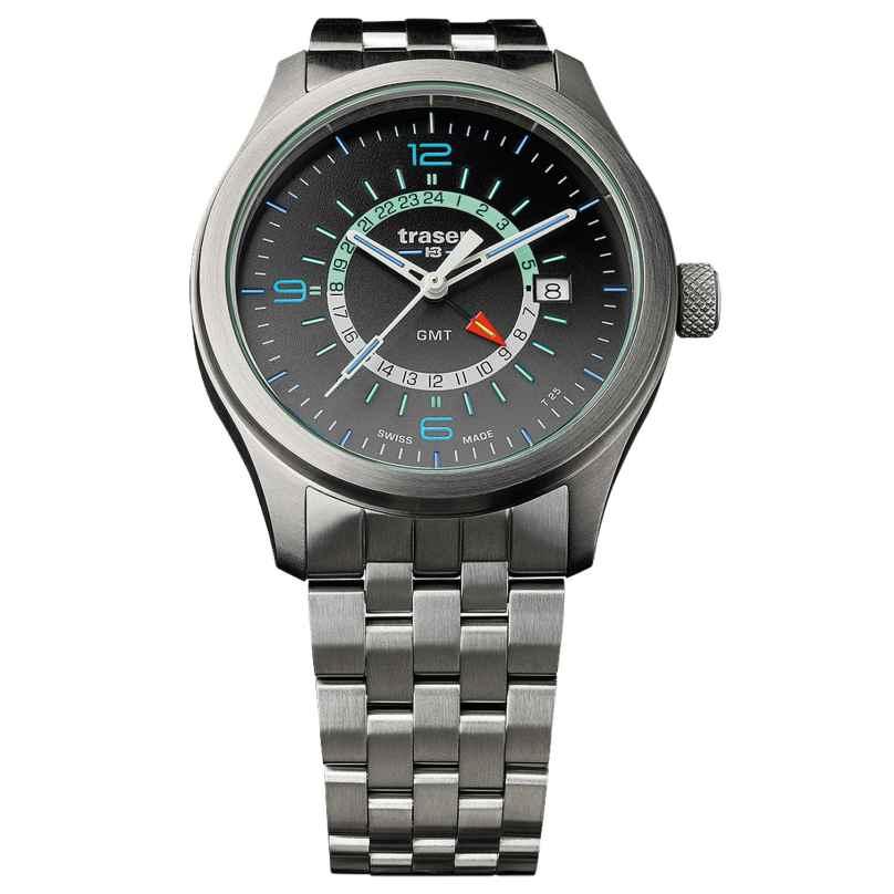 traser H3 107232 Mens Watch P59 Aurora GMT Anthracite Steel 7630027703481
