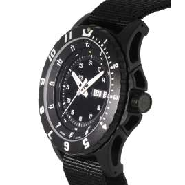 traser H3 100269 Men`s Wristwatch P66 Type 6 MIL-G Black Nato Strap