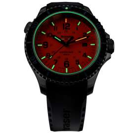 traser H3 109380 Men's Dive Watch P67 SuperSub Orange with Rubber Strap