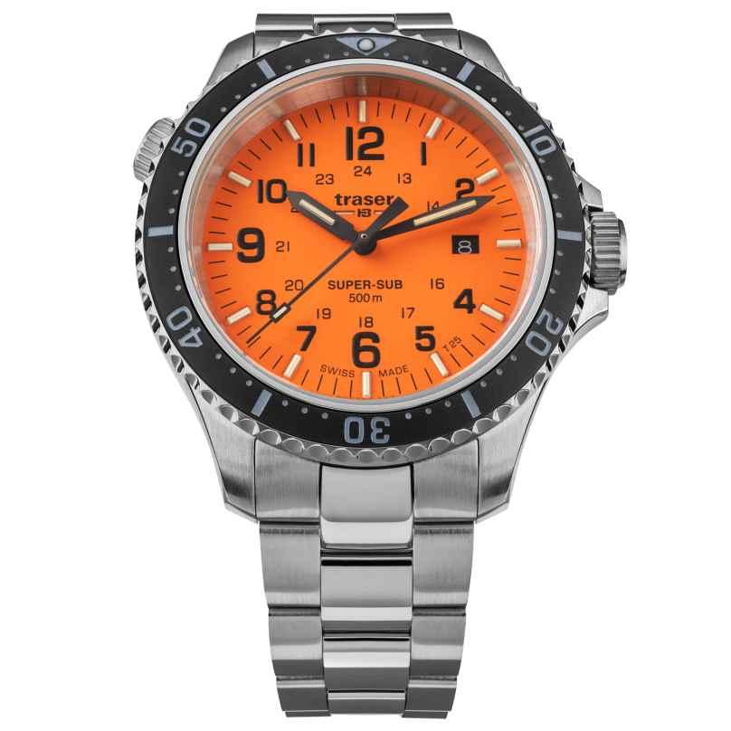 traser H3 109379 Dive Watch for Men P67 SuperSub Special Set Orange 7630027704532