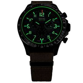 traser H3 109459 Men's Watch P67 Officer Pro Chrono Khaki with Nato Strap