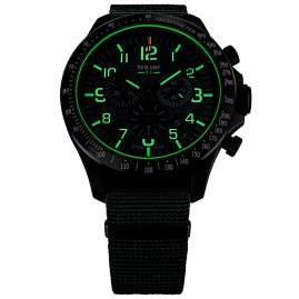 traser H3 109463 Men's Chronograph P67 Officer Pro Chrono Green with Nato Strap