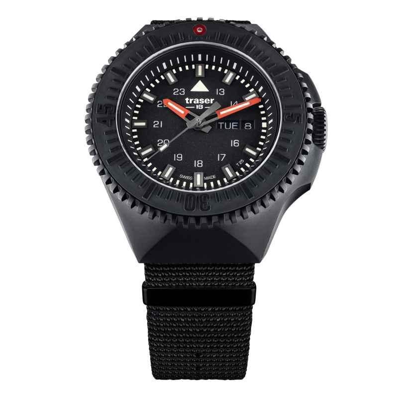traser H3 109854 Herrenuhr P69 Black Stealth Schwarz mit Natoband 7630027704822