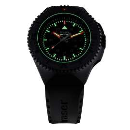 traser H3 109855 Men's Watch P69 Black Stealth with Rubber Strap