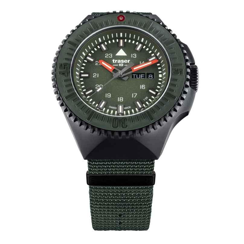 traser H3 109858 Herrenuhr P69 Black Stealth Grün mit Natoband 7630027704860