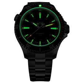 traser H3 110324 Men's Watch P67 Diver Automatic Black with Steel Strap