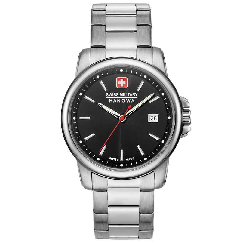 Swiss Military Hanowa 06-5230.7.04.007 Herrenuhr mit Edelstahl-Armband Swiss Recruit II 7620958000308