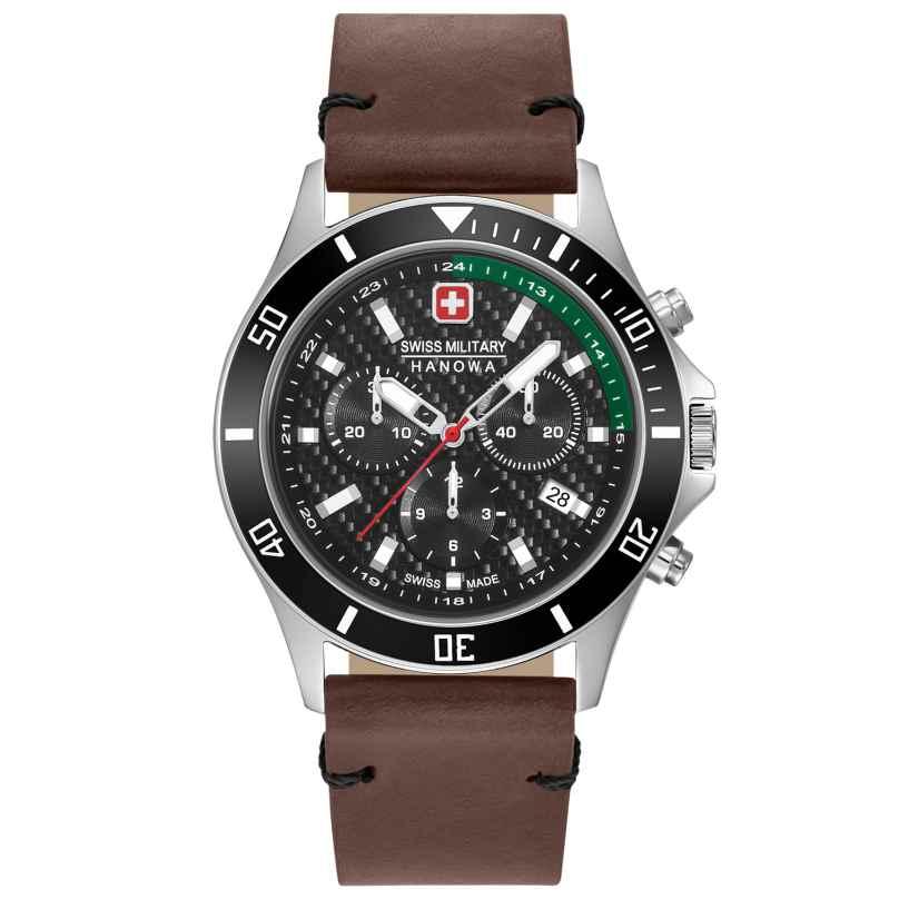 Swiss Military Hanowa 06-4337.04.007.06 Herrenuhr Flagship Racer Chrono Lederband braun 7620958001107