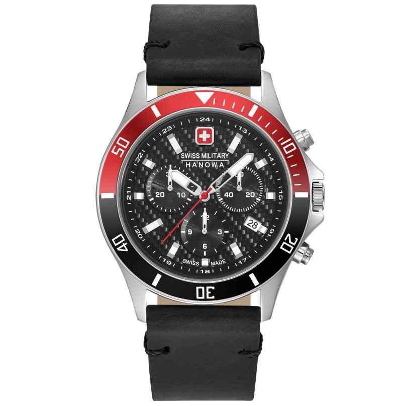 Swiss Military Hanowa 06-4337.04.007.36 Herrenuhr Flagship Racer Chrono schwarz / rot 7620958001121