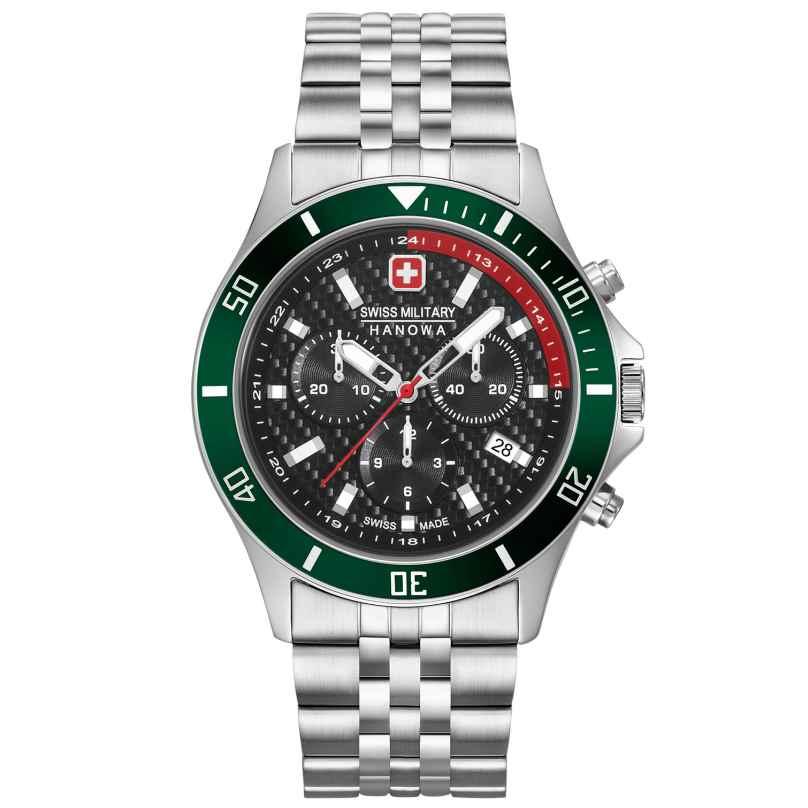 Swiss Military Hanowa 06-5337.04.007.06 Herrenuhr Flagship Racer Chrono Edelstahl-Armband 7620958001152