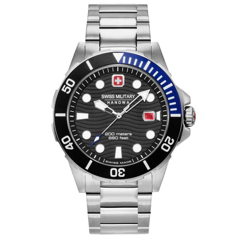 Swiss Military Hanowa 06-5338.04.007.03 Men's Watch Offshore Diver Stainless Steel Black 7620958001206