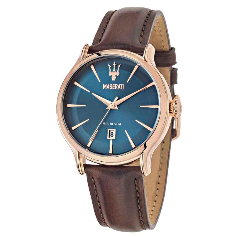 Maserati R8851118001 Herrenuhr Epoca Braun/Blau 8033288680925