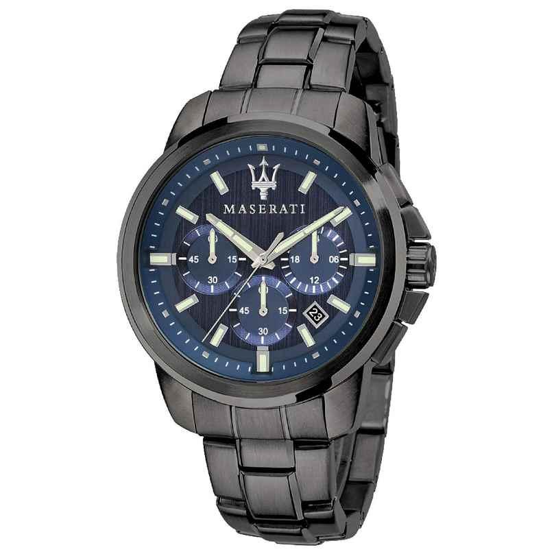 Maserati R8873621005 Herrenuhr Chronograph Successo Grau/Blau 8033288792420