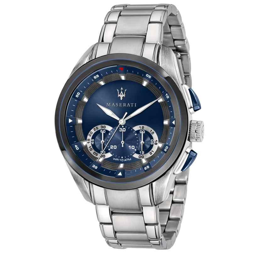 Maserati R8873612014 Herrenuhr Chronograph Traguardo silber/blau 8033288880400