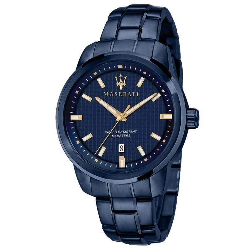 Maserati R8853141002 Herrenuhr Successo Blau 8033288907077