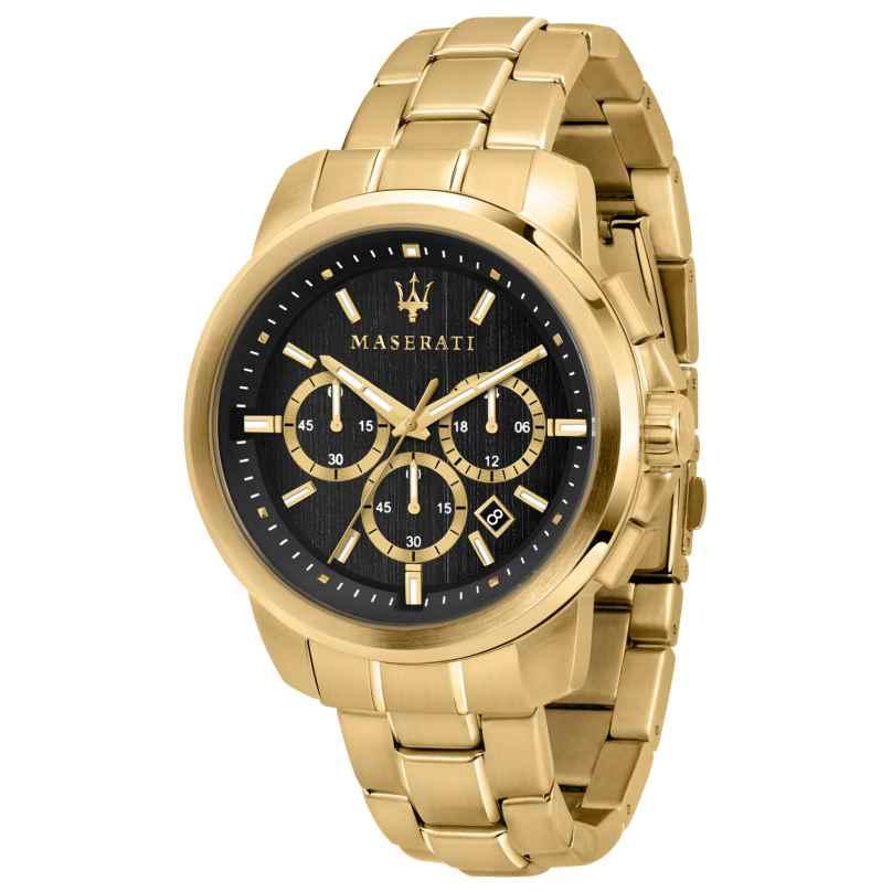Maserati R8873621013 Herren-Armbanduhr Chronograph Successo gold/schwarz 8033288857730