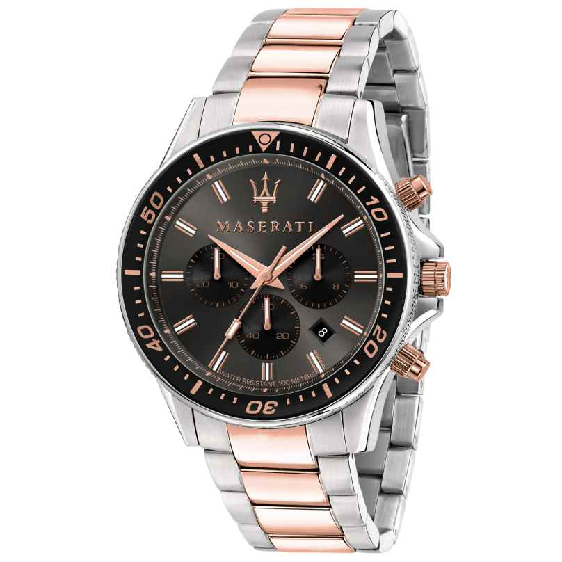 Maserati R8873640002 Herrenuhr Chronograph Sfida bicolor 8033288894759