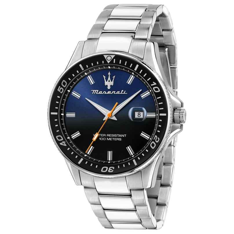 Maserati R8853140001 Herrenuhr Sfida silber/blau 8033288894704