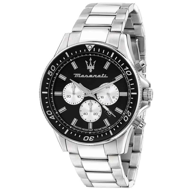 Maserati R8873640004 Herrenuhr Chronograph Sfida silber/schwarz 8033288894773