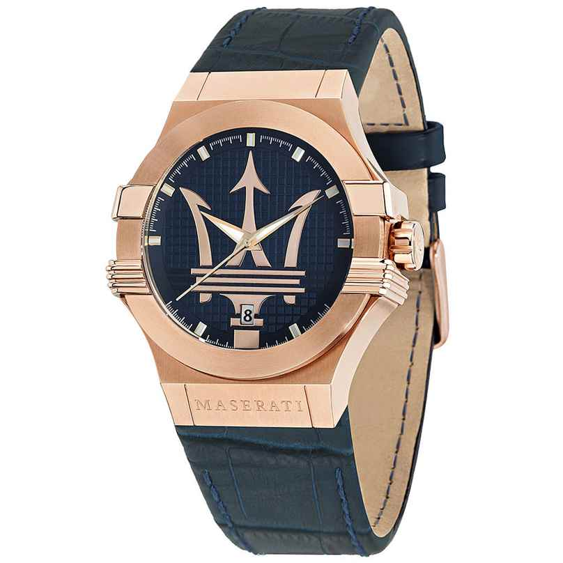 Maserati R8851108027 Men's Watch Potenza blue/rose gold 8033288766889