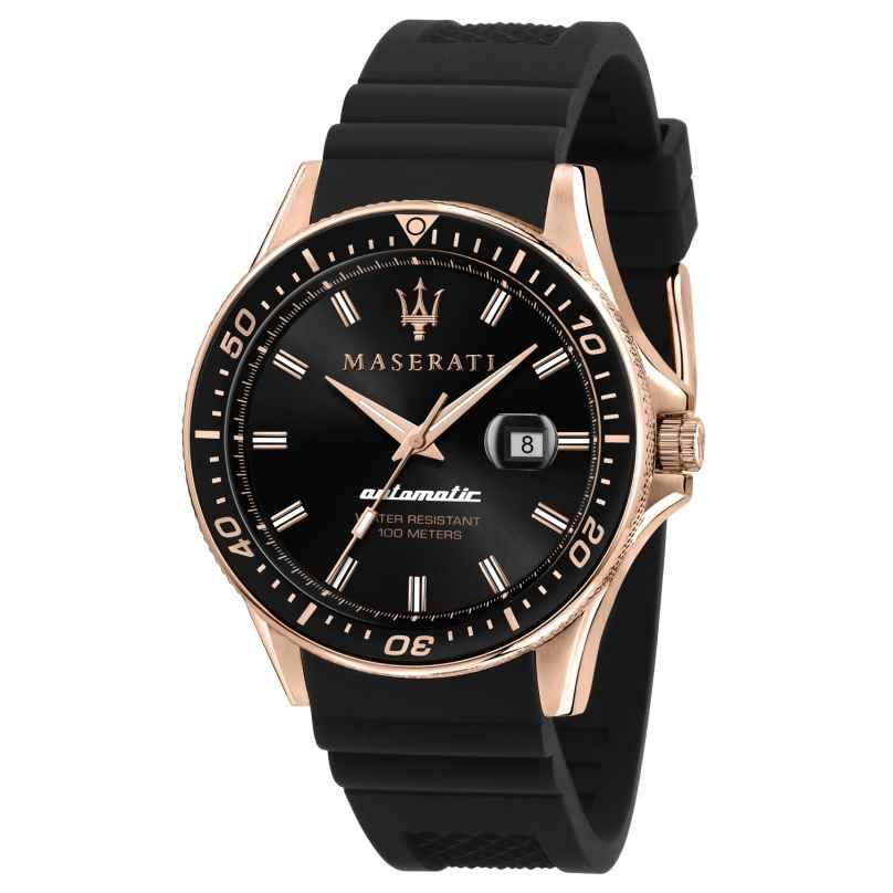 Maserati R8821140001 Automatikuhr für Herren Sfida schwarz/roségold 8033288894667