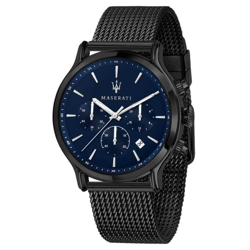 Maserati R8873618008 Herrenuhr Chronograph Epoca grau/blau 8033288892687