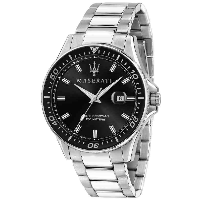 Maserati R8853140002 Herren-Armbanduhr Sfida silber/schwarz 8033288894711