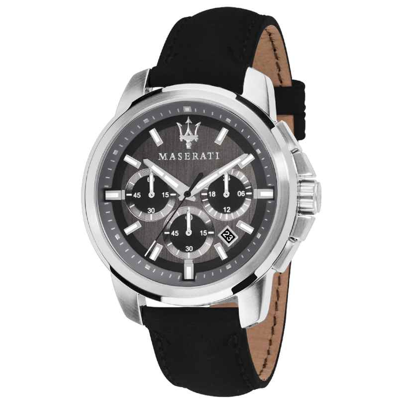 Maserati R8871621006 Men's Watch Chronograph Successo with Leather Strap 8033288792369