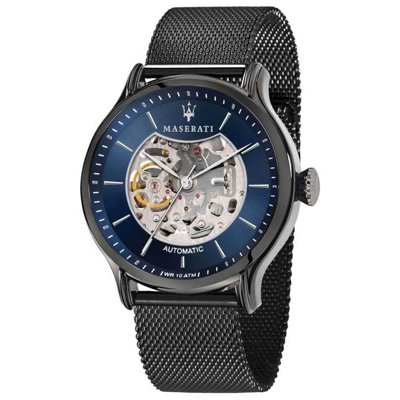 Maserati R8823118006 Automatikuhr für Herren Epoca Skelett grau/blau 8033288890539