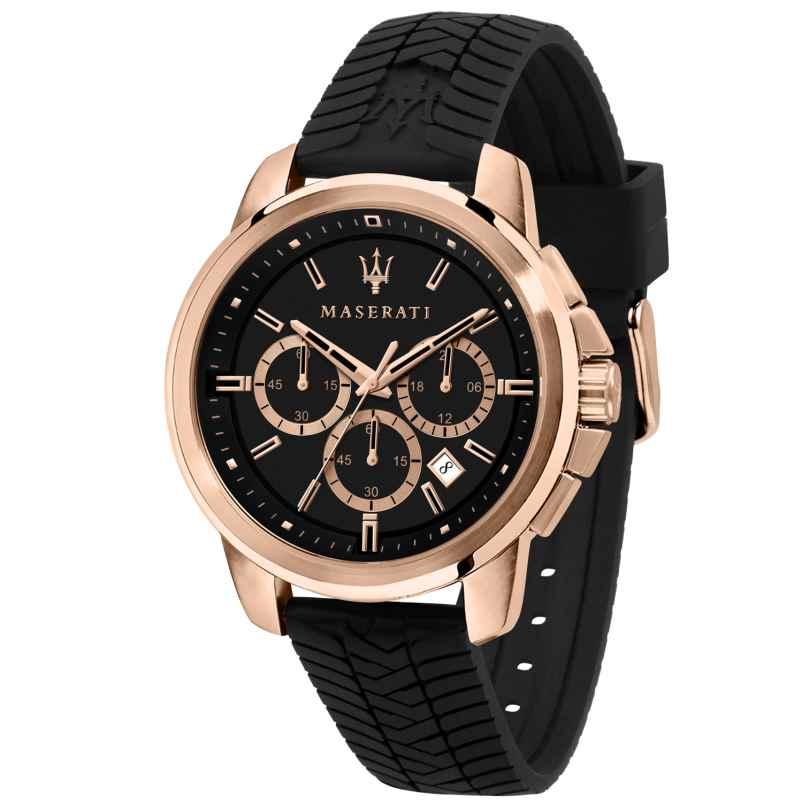Maserati R8871621012 Men's Watch Chronograph Successo black/rose gold 8033288893950