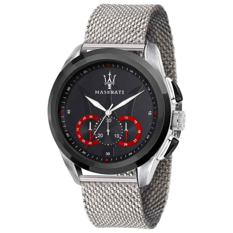 Maserati R8873612005 Men's Watch Chronograph Traguardo with Mesh Bracelet 8033288795100