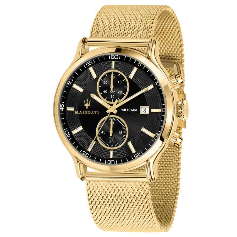 Maserati R8873618007 Herrenuhr Chronograph Epoca gold/schwarz 8033288861157