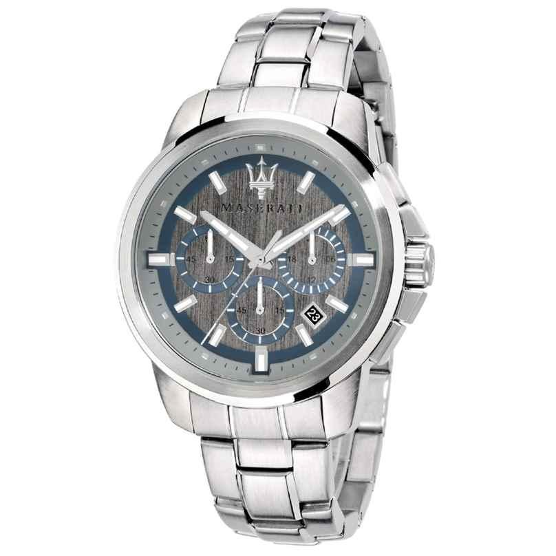 Maserati R8873621006 Herren-Armbanduhr Chronograph Successo silber/hellgrau 8033288794592