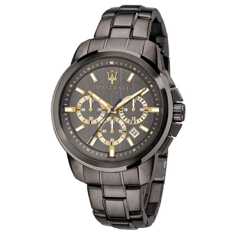 Maserati R8873621007 Herrenuhr Chronograph Successo grau/gold 8033288837480