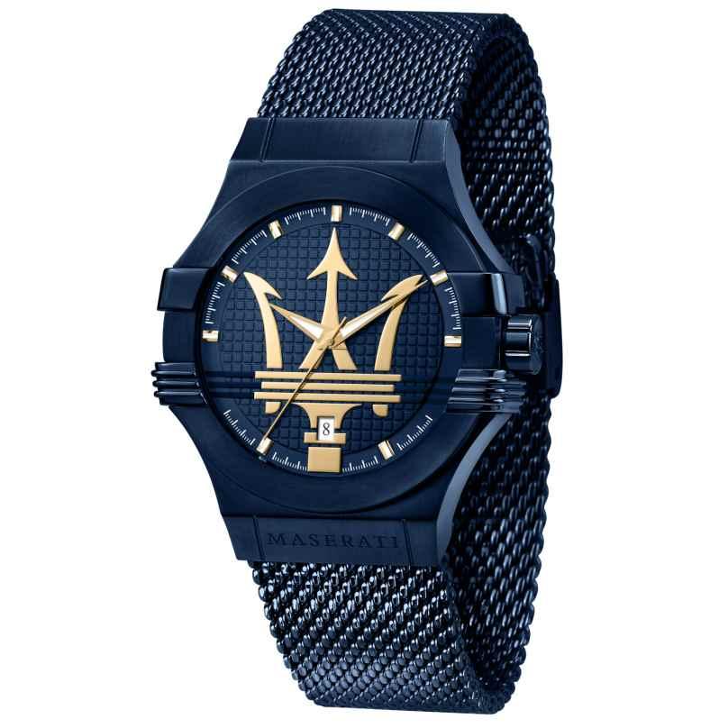 Maserati R8853108008 Herren-Armbanduhr blau/gold 8033288903611