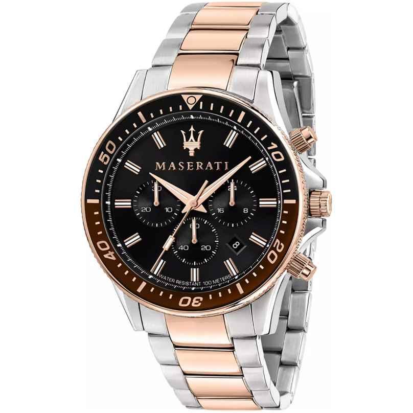 Maserati R8873640009 Men's Chronograph Sfida Steel/Rose Gold Tone 8033288925927