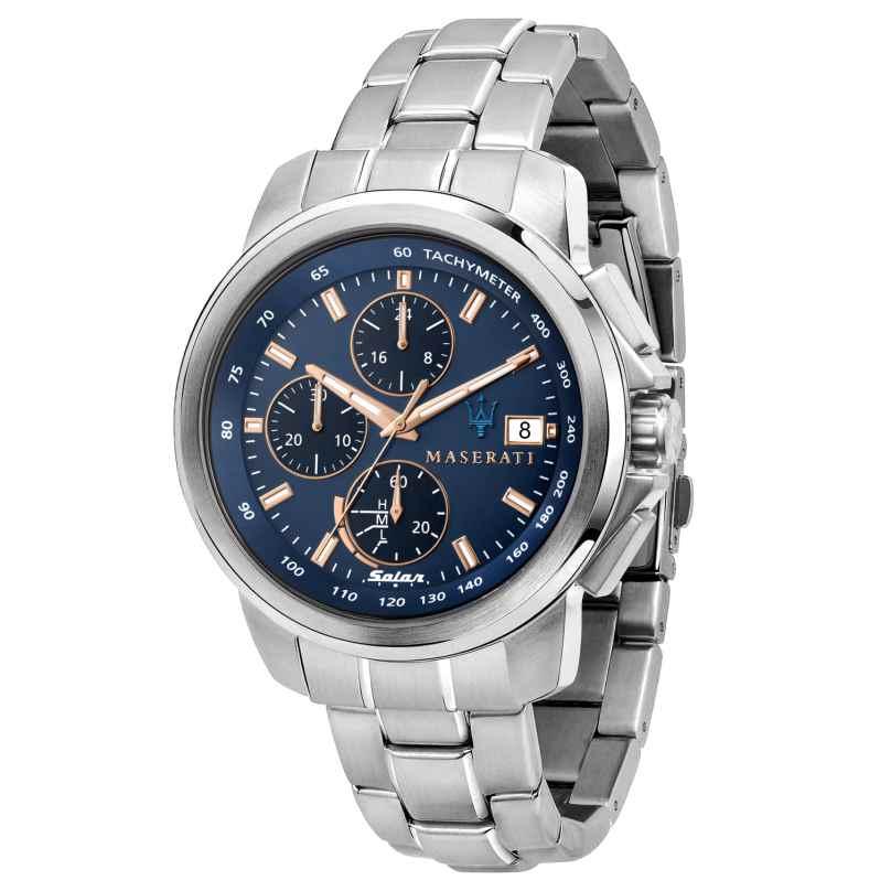 Maserati R8873645004 Solar Men's Watch Chronograph Successo Steel/Blue 8033288925866