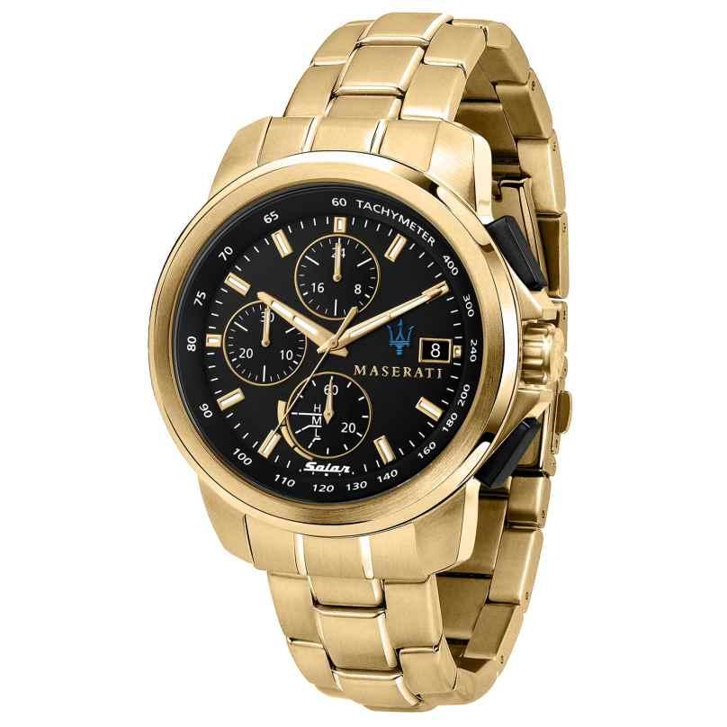 Maserati R8873645002 Solar Men's Watch Chronograph Successo Gold Tone/Black 8033288925842