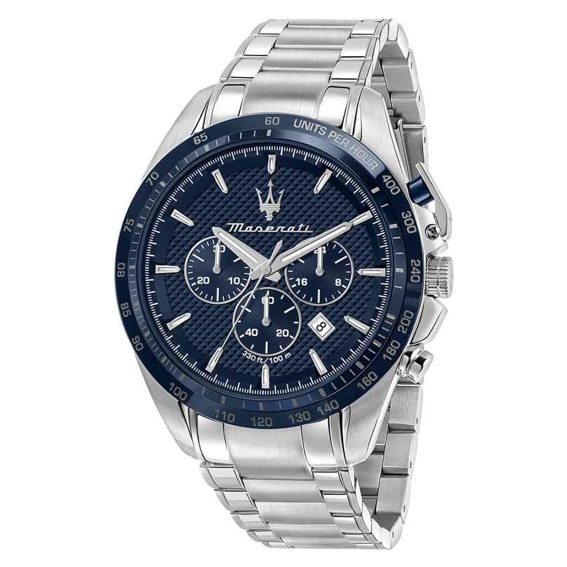 Maserati R8873612043 Herrenuhr Chronograph Traguardo Stahl/Blau 8033288937968