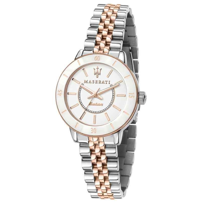 Maserati R8853145504 Women's Watch Successo Solar Ceramic Two-Colour 8033288927099